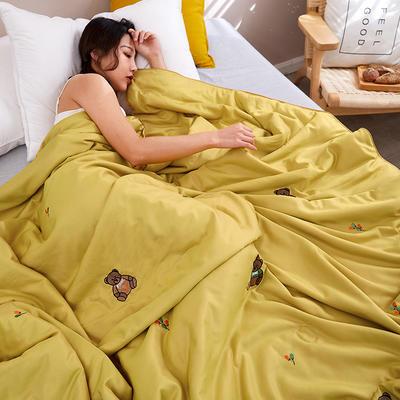 2020新款天丝莫代尔绣花夏被 200X230cm 尤克里里 黄色