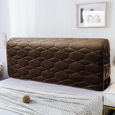 2020新款铂金绒床头罩 1.2米 黑咖色
