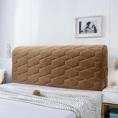 2020新款铂金绒床头罩 1.2米 浅咖色