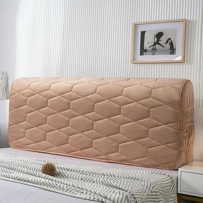 2020新款铂金绒床头罩 1.2米 香槟驼