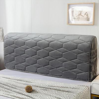 2020新款铂金绒床头罩 1.2米 星空灰