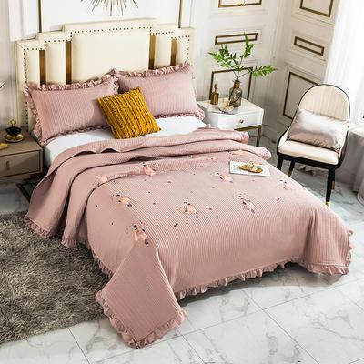 2020新款全棉水洗棉刺绣床盖 200cmx230cm单床盖 4粉嫩公主