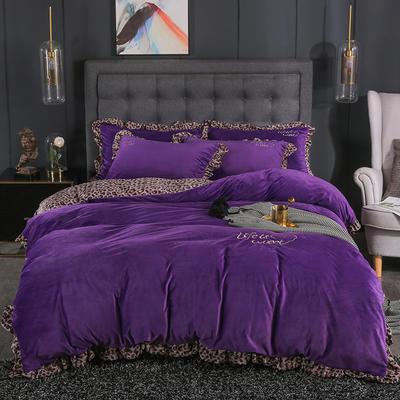 2019冬款《美女与野兽》yabovip188 1.8m床单款yabovip188 紫色