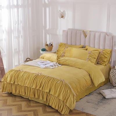 2019新款纯真年代系列四件套 1.8m床单款 黄色