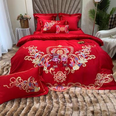 2019新款60支长绒棉系列婚庆系列 1.5m-1.8m四件套 金童玉女