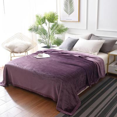 2019新款400克素色单层北极绒毛毯 150*200 浅紫