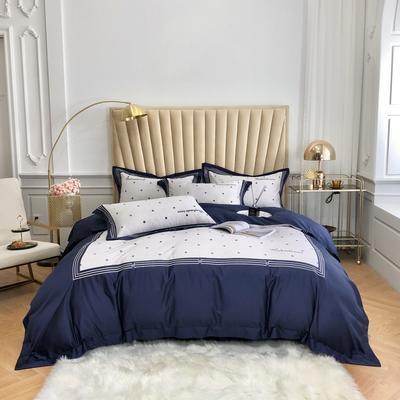 2020新款60長絨棉印加繡四件套-致尚 1.5m床單款 致尚-寶藍