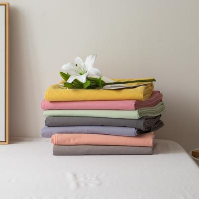 2021新款ins全棉水洗棉嵌条工艺款四件套 1.2米床三件套床单款 ins奶黄