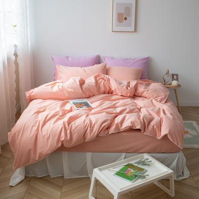 2021新款ins全棉水洗棉嵌条工艺款四件套 1.2米床三件套床单款 ins粉玉
