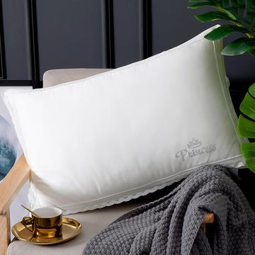 2019新款简约牛奶纤维蕾丝花边舒适枕头枕芯