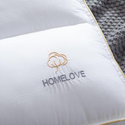 2019新款简约全棉分区低枕头枕芯 全棉低枕头