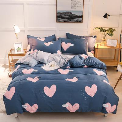 2019新款全棉加厚水晶绒套件 2.0m床(被套+枕套*2) 爱的天使