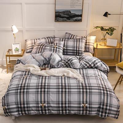 2019新款全棉加厚水晶绒套件 2.0m床(被套+枕套*2) 奥罗夫