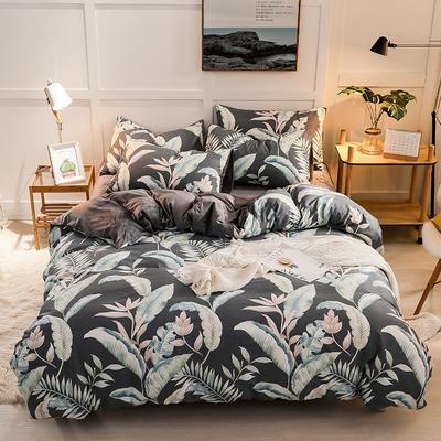 2019新款全棉加厚水晶绒套件 2.0m床(被套+枕套*2) 风雅颂