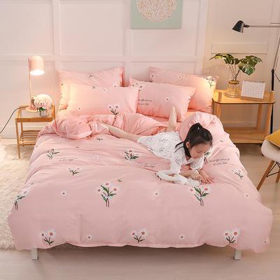 2019新款全棉加厚水晶绒套件 2.0m床(被套+枕套*2) 花间舞步