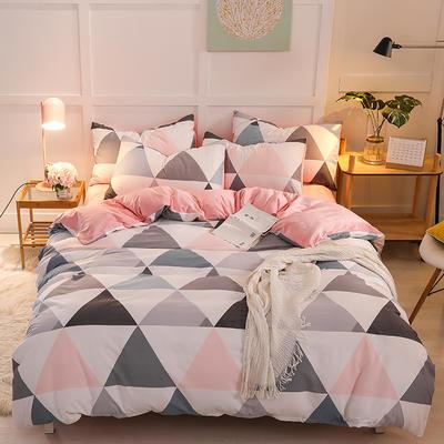 2019新款全棉加厚水晶绒套件 2.0m床(被套+枕套*2) 灵动空间