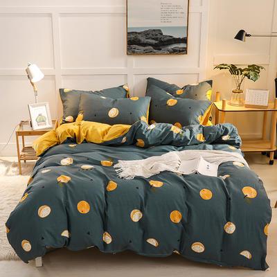 2019新款全棉加厚水晶绒套件 2.0m床(被套+枕套*2) 柠檬果绿