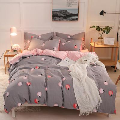 2019新款全棉加厚水晶绒套件 2.0m床(被套+枕套*2) 甜蜜蜜