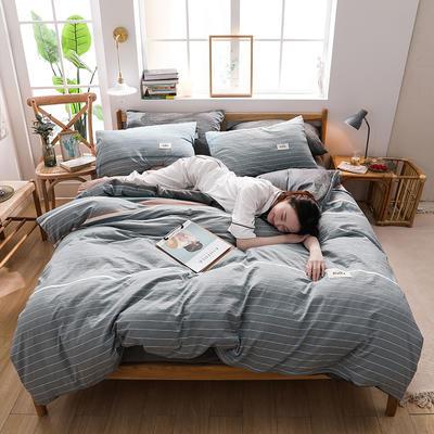 2020四季款北欧简约无印日式色织水洗棉套件 1.2m床单款三件套 恩格斯