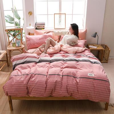 2020四季款北欧简约无印日式色织水洗棉套件 1.2m床单款三件套 雅兰