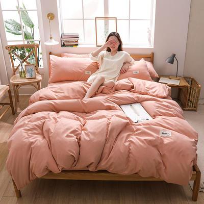 2020四季款北欧简约无印日式色织水洗棉套件 1.2m床单款三件套 雅致粉