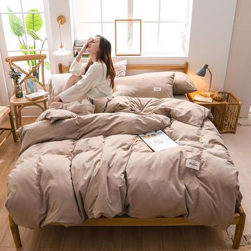2020四季款北欧简约无印日式色织水洗棉套件