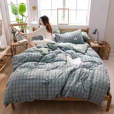 2020四季款北欧简约无印日式色织水洗棉套件 1.2m床单款三件套 伊格