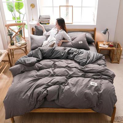 2020四季款北欧简约无印日式色织水洗棉套件 1.2m床单款三件套 织梦