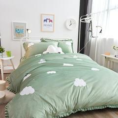小可家纺          新品云朵宝宝绒-7色 标准200*230 绿