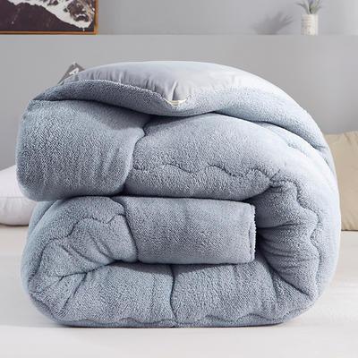 2019新款羊羔絨冬被被子被芯 1.2*1.5m2斤 灰色