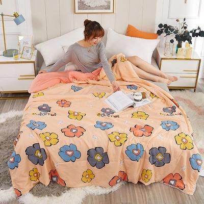 2020新款親膚水洗棉印花夏涼被 110x150cm 太陽花