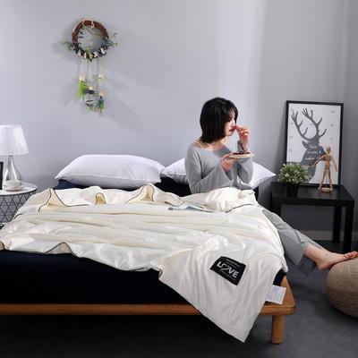 2020新款亚光水洗真丝夏被 110x150cm 米白