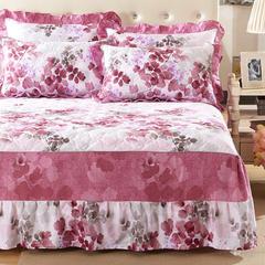 爱妮玖玖 套件14 印花全套夹棉床笠四件套37 1.2米床标准四件套 雨露花香