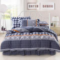 爱妮玖玖 套件1 全棉印花单层床罩四件套49(配花边枕) 1.5米床标准四件套 梦幻城堡