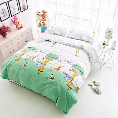 套件19 全棉小清新多规格床单四件套 小四件套1.0-1.35床 迷你奶牛