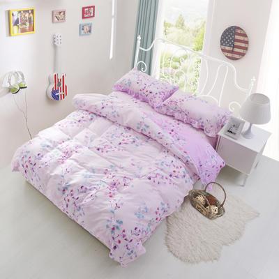 套件3-4 全棉春天系列夹棉床裙配花边被套四件套 1.2床 彼岸花开