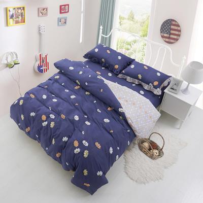 套件3-4 全棉春天系列夹棉床裙配花边被套四件套 1.2床 秋叶浪漫
