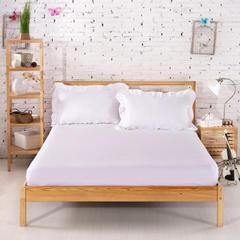 单品段条系列 缎条单层床笠 120*200*25cm 白色