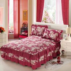 单品缎条系列 韩版双层边单床罩 150*200*45 金色时光