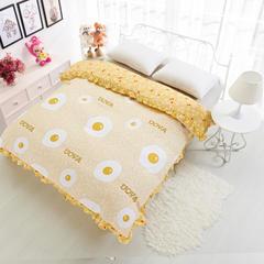 单品缎条系列 韩式被套带被横头 160*210cm 蛋黄派