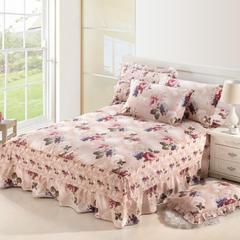 单品床罩类8 印花单层床罩 120*200*45cm 春园花海