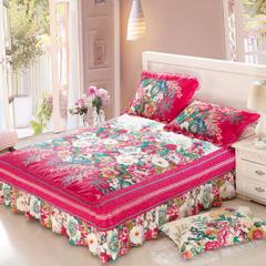 单品床罩类8 印花单层床罩 120*200*45cm 英伦花园