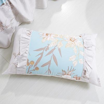 单品枕套类1  全棉 韩式单层枕套 45cm*74cm 花开盛世