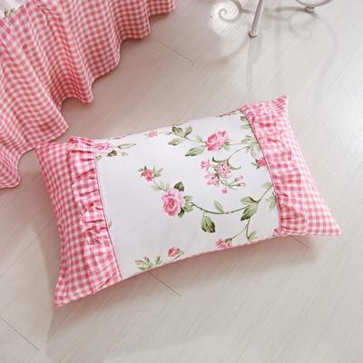 单品枕套类1  全棉 韩式单层枕套 45cm*74cm 花语玲珑