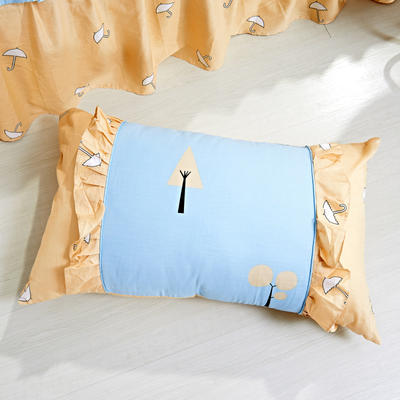 单品枕套类1  全棉 韩式单层枕套 45cm*74cm 美好心情