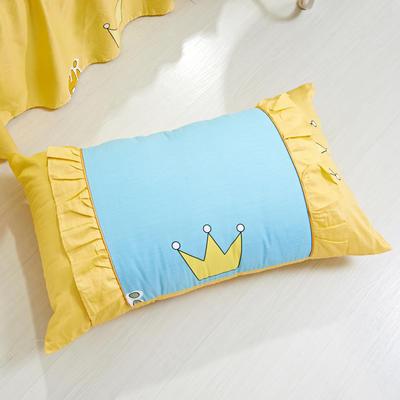单品枕套类1  全棉 韩式单层枕套 45cm*74cm 奇妙皇冠
