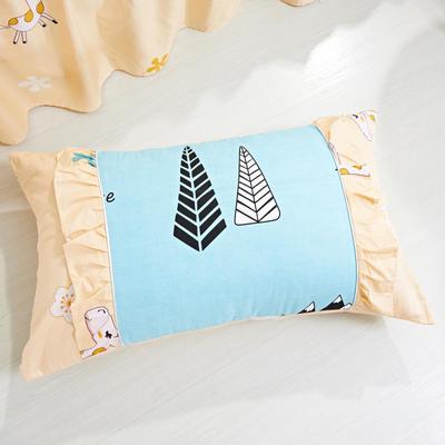 单品枕套类1  全棉 韩式单层枕套 45cm*74cm 雪岭熊风