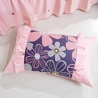 单品枕套类1  全棉 韩式单层枕套 45cm*74cm 幽兰花谷
