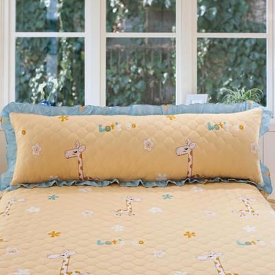 单品枕套类10  全棉夹棉长枕 45cmX120cm 奔跑小鹿黄