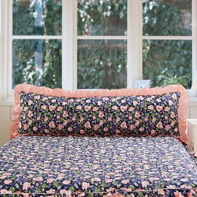 单品枕套类10  全棉夹棉长枕 45cmX120cm 粉黛佳人